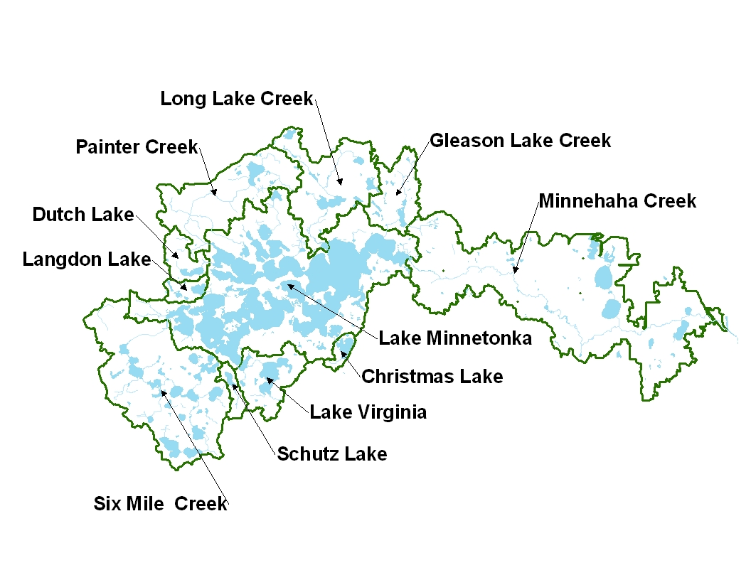 Map of MCWD subwatersheds