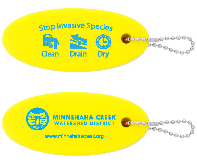 MCWD Clean Drain Dry floating keychain