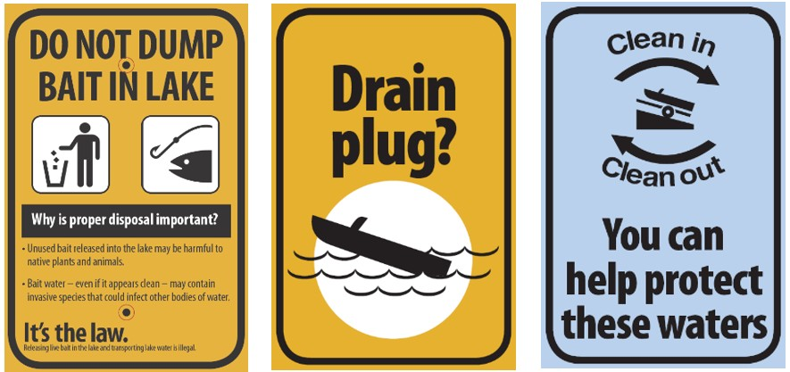Sample Clean Drain Dry signs