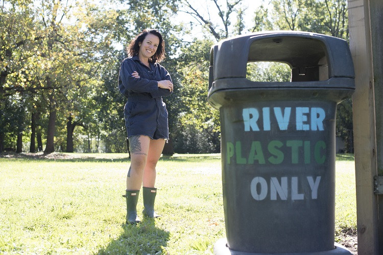 River Steward trash collection
