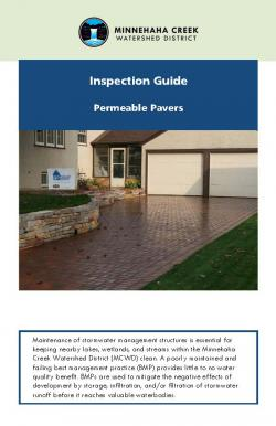 Cover of Permeable Pavers Inspection Guide