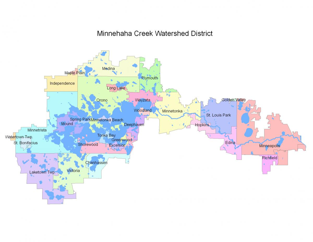Map of Minnehaha Creek Watershed District
