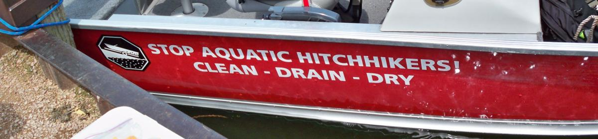 One of MCWD's two sampling boats, used on AIS-infested lakes.