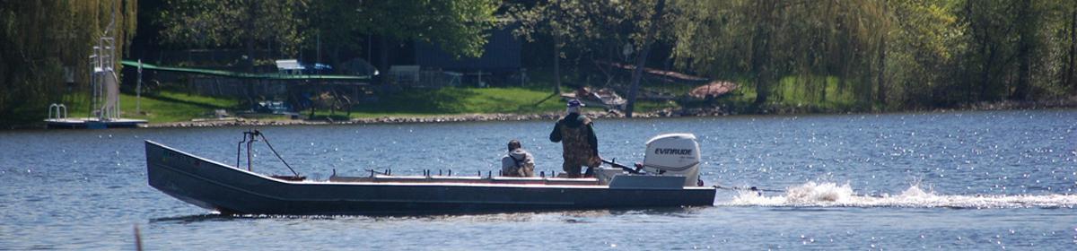 Carp removal on Wassermann Lake