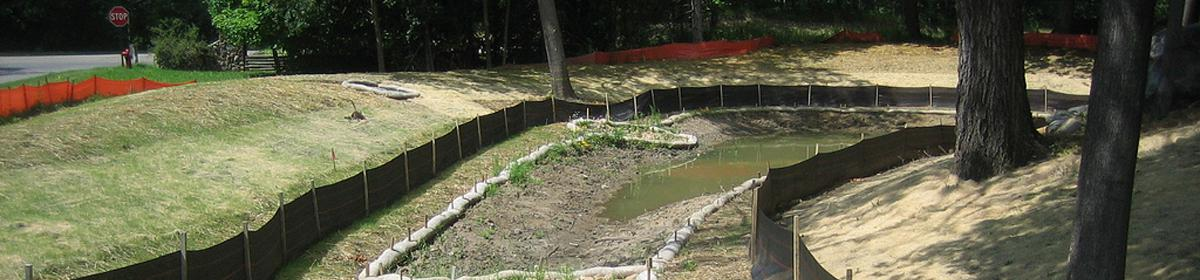 An example of proper erosion control