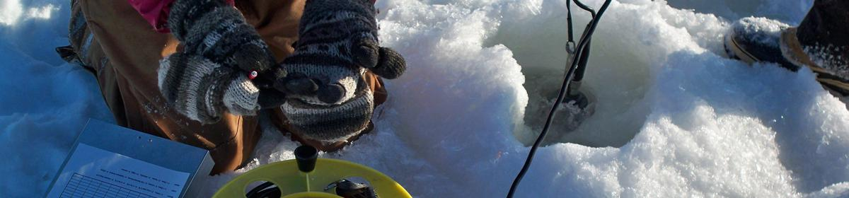 Winter chloride monitoring on lakes.