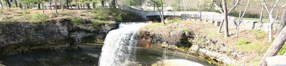 The historic Minnehaha Falls