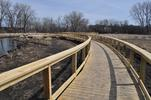 Newly built boardwalk