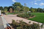 View of playground and great lawn at Cottageville Park