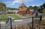 Community garden and playground at Cottageville Park