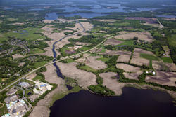 Aerial of Six Mile Creek