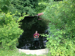 Will taking stream monitoring readings in the water