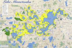Zebra mussel potential habitat Lake Minnetonka map